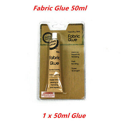 50ml FABRIC GLUE Textile Hemming Quick Fast Repair Adhesive Craft Art Sewing