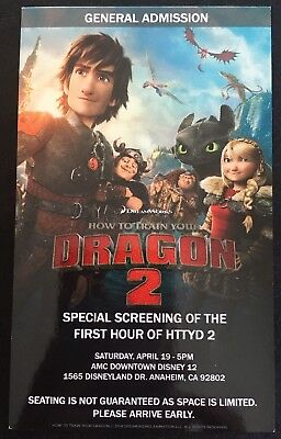 Wondercon 2014 How To Train Your Dragon 2 HTTYD Promo Movie Screening Pass