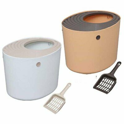 Hooded Litter Box for Cats Portable and Easy Clean Hygienic