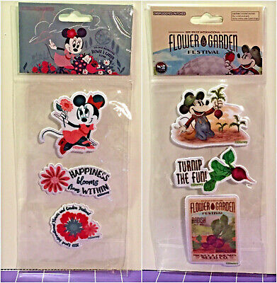 NEW Disney 2019 Epcot Flower & Garden Festival Embroidered Patches Minnie Mickey