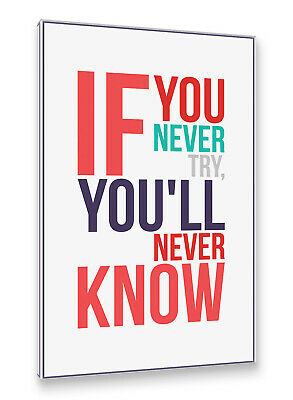 Retro Plakat Postereck Poster 1594 If You Never Try Motivation SW Spruch