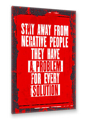 Stay Away From Motivation Spruch Retro Postereck Poster 1659 Vintage Plakat