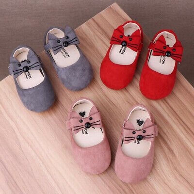Newborn Baby Toddler Kids Girls Leather Shoes First Walkers Soft Sole Shoes Cosy