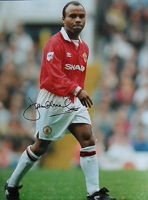 DANNY WALLACE Signed 16x12 Photo MANCHESTER UTD & ENGLAND COA