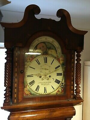 Welsh Grandfather clock - Griffith and Son Denbeigh