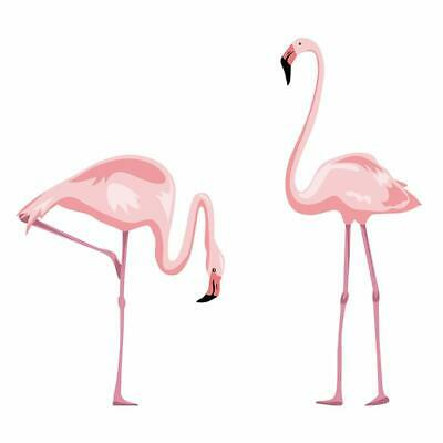 decalmile Pink Flamingo Wall Stickers Peel and Stick Wall Decals for Bedroom Liv