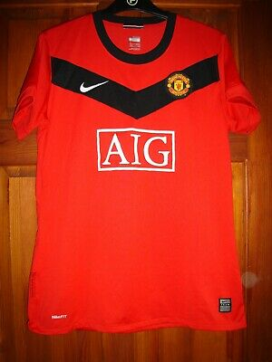 Manchester United Football shirt adult medium red home AIG Vintage