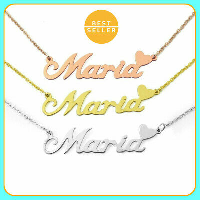 Moonlight Collections Sterling Silver Custom Name Necklace Vivian Personalized Nameplate Necklace