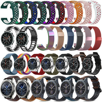Silicone Leather Stainless Steel Band Strap For Huawei Watch GT Active/Elegant