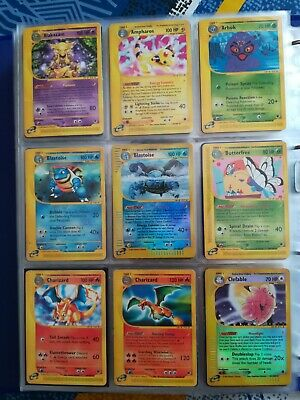 Pokemon ENG Expedition Complete 133/165 Non Holo Card Set +15 Holos- Charizard
