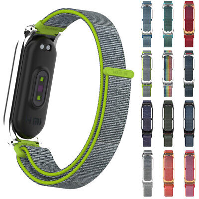 Wristband Wrist Strap Nylon Fiber Band Breathable For Xiaomi Mi Band 4 3