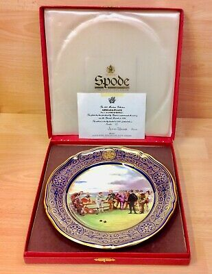 """Spode 1987 Maritime Collection Armada Plate No.1 """"A Game of Bowls""""."""