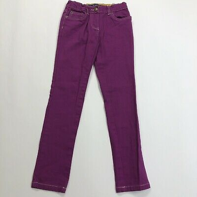 Mini Boden Girls Size 9Y Fuschia Pink Jeans Full Length Denim Pants Adjustable