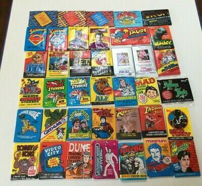 SUPER LOT of 30 VINTAGE NON-SPORTS UNOPENED WAX PACKS 70's, 80's, 90's  NEW!