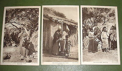 Chaco Toba Indian Families Three Postcards
