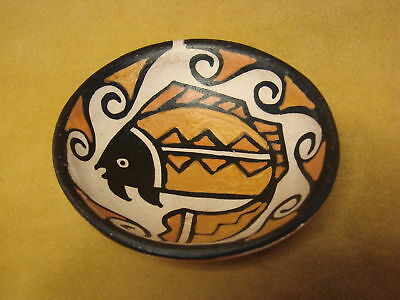 Santo Domingo Kewa Handmade & Painted Fish Bowl By Billy Veale