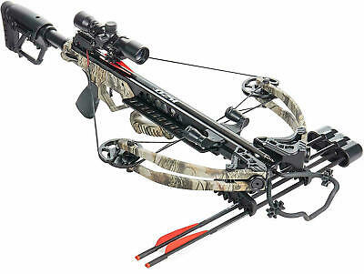 Crossbow Compound Bear Archery Scope Tree Camo Target 175lb Draw 14lb 35in Long