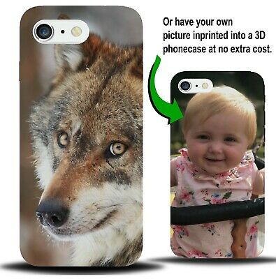 Personalised Wolf Phone Case Cover Wolves Face Animal Woods Present Gift X966
