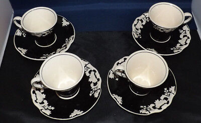 Antique George Jones and Son's Crescent. 4 (Four) Arcadia Black Demi Tasse.