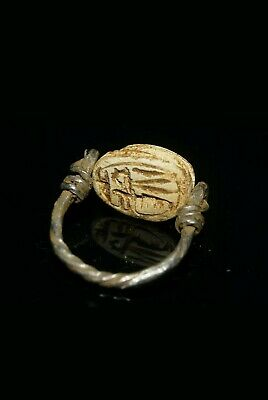 Beautiful Ancient Egyptian Silver Scarab Ring