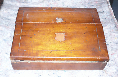 Antique Small Writing Slope,Lap Desk Carriage,Slant Top Writing Box,