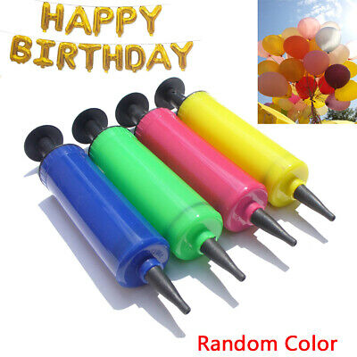 1PC Balloon Air Pump Hand Held Action Fast Mini Plastic Ball Inflator Party Tool