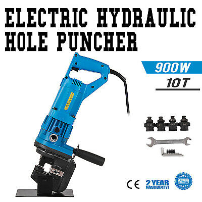 900W Electric Hydraulic Hole Puncher Steel Plate Hole Punching Machine 10 Ton