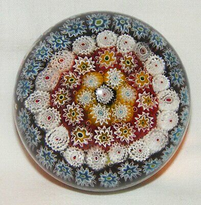 Vintage Murano Glass - Millefiori Paperweight - Very Colourful and Beautiful
