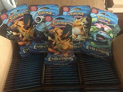 POKEMON - XY EVOLUTIONS BLISTER BOOSTER PACK x 5 - FACTORY SEALED