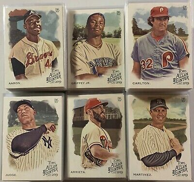 2019 Topps Allen & Ginter Base PYC Complete Your Set 10 Card Lot