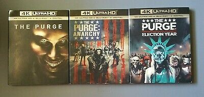 The Purge Trilogy Collection (4K Ultra HD+ Blu ray+ Digital) w/slipcovers *NEW*