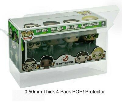 1 0.50mm Box Protector FUNKO POP! 4 PACKS   READ! Clear Custom Made Display Case