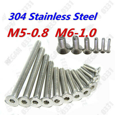 M2 M2.5 M3 M4 M5 M6 Hex Socket Countersunk Flat Head Screws Bolts 304SS DIN7991