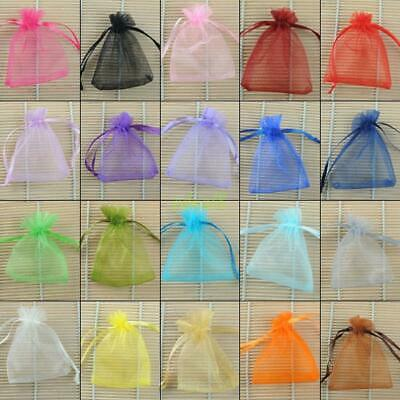 100pcs Strong Sheer Organza Wedding Favors Jewelry Candy Beads Gift Pouch Bags