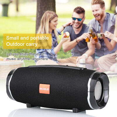 BIUBLE 40W Portable Wireless Bluetooth Speaker Waterproof Stereo Bass USB/TF/AUX