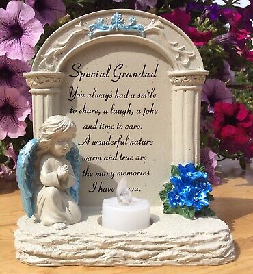 Special Grandad Archway To Heaven Angel Ornament, Graveside Remembrance Gift