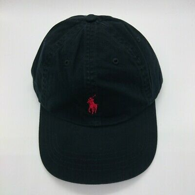 Ralph Lauren Black and Red Polo Baseball Cap - One Size