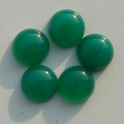 Green chalcedony 4mm 5mm 6mm 8mm 10mm 12mm round cabochon Loose gemstone