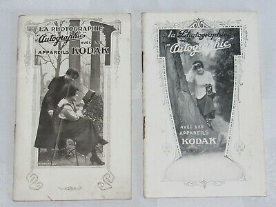 04F59 Rare - 2 Old Catalogues Devices Photo Kodak 1916 and 1917 Autographic