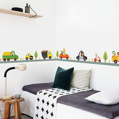 ANIMAL CAR WALL Stickers for kids Room Children Boy Bedroom ...