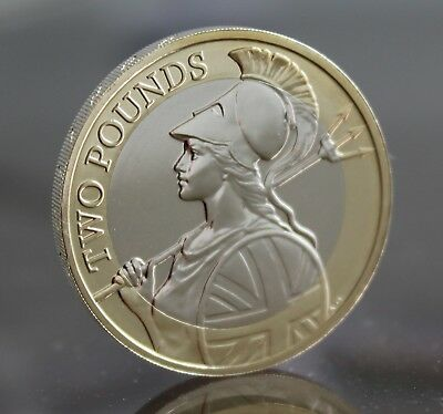 2015 Royal Mint Britannia Definitive £2 Two Pound Coin - BUnc - BU - Low Mintage