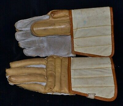 "Antique Vintage 1950s? New Old Stock ""WINNER"" Ice Hockey Gloves Never Used 12"""