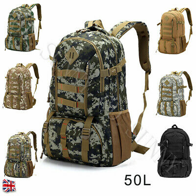 50L Tactical Military Backpack Waterproof Outdoor Climbing Hiking Shoulder Bag