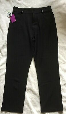 John Lewis Senior Girl's Black Trousers Adjustable Waist size 30""