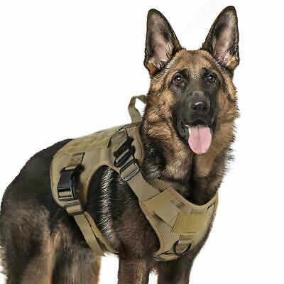 Tactical Dog Harness Military Service  Adjustable Handle Hunting Modular Cannie