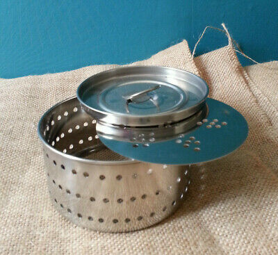 Indian Handmade Stainless Steel Cheese Paneer Mould Making Round sm - ex lg