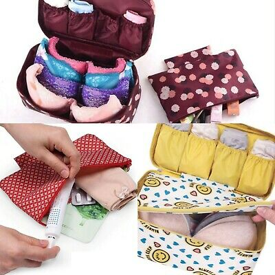 Travel Underwear Bag Clothes Organiser Cosmetic Case Toiletries Pouch Travel Kit