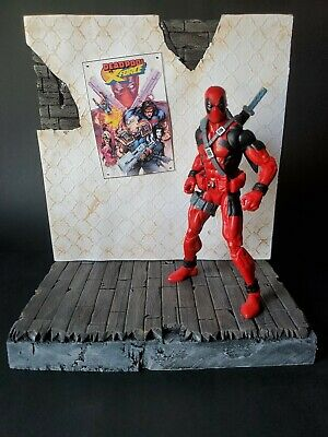 """BRICK WALL DIORAMA For 1:12 6"""" And 7"""" Figures Display Marvel"""