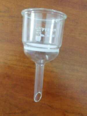 Pyrex 150 ml Buchner Filter Funnel Coarse Frit Used by Bristol Myers