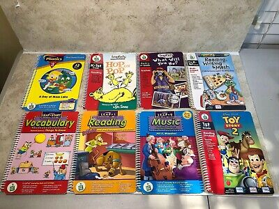 Lot Of 8 Leap Frog LeapPad Learning Booklets No Cartridges